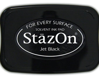 Black StazOn Ink pad permanent stamp pad --9307