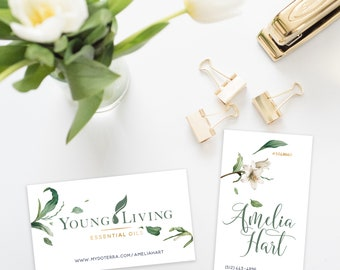YOUNG LIVING Business Cards Green Foliage - DIGITAL file only