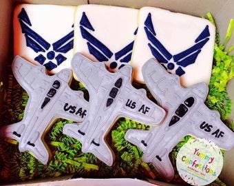 Air Force Cookies - 1 Dozen (12 Cookies)