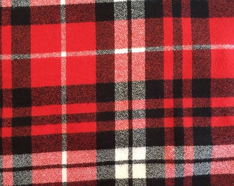 Mammoth Flannel Red Plaid by Robert Kaufman