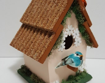 Hand Painted and Decorated Birdhouse