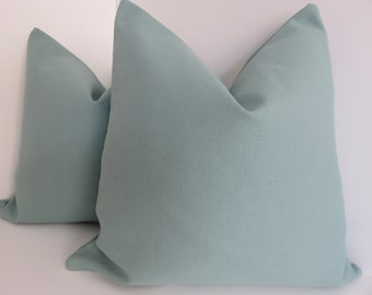 Turquoise Pillows - Pillow Covers- Teal Pillow covers- Aqua Pillow Covers- Solid Aqua Pillows