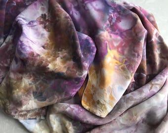 Hand dyed rayon shawl