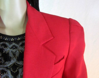 1980's RED JACKET by Le SUIT of Paris New York size medium 10
