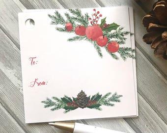 Christmas gift tags, holiday tags, gift tags, tags for presents, gift wrapping, Christmas gift decor, holiday presents -set of 12(tg79)
