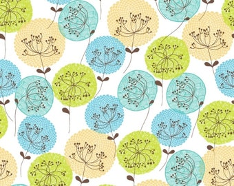 1 Yard  BLOOMS & BURSTS 1688-11-blue DILL Blossom Seed Cameo Studio E Studio Baby Blue Petite Floral Quilting Sewing Fabric