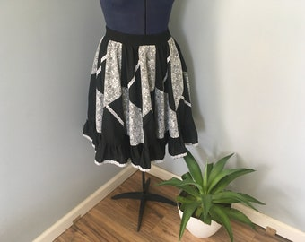 Vintage Western Square Dance Skirt Medium Partners Please by Malco Modes