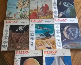 FRITZ LEIBER Rare Science Fiction *1st Prints* (11) Galaxy/ F&SF, Good!