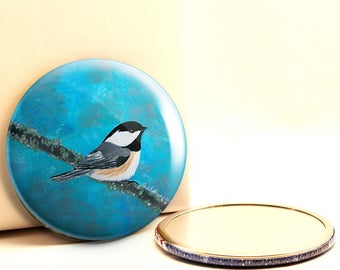 Black-capped Chickadee Pocket Mirror