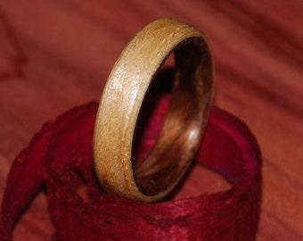 Pearl Maple/Dark Walnut Wood Ring