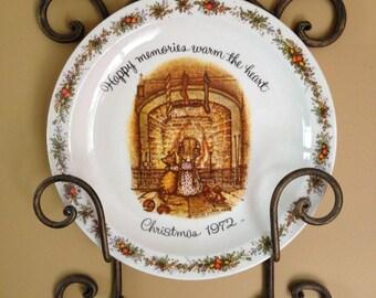1972 Hollie Hobbie Christmas Plate Commemorative Edition-Christmas Plate-Christmas Collectible Plate