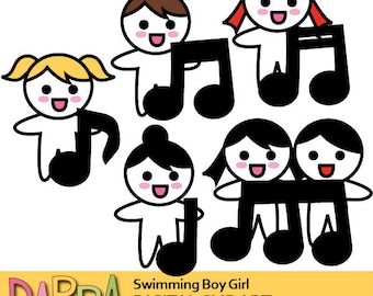 Singing clipart / singer clip art / planner clipart, sticker clip art / girls boys choir sing clipart, commercial use, music notes graphics