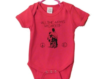 All The Arms We Need Onesie//Toddler T Shirt / equality / anarchy / love / hugs/ hippy/ baby shower gift/ for her / for him/ gift