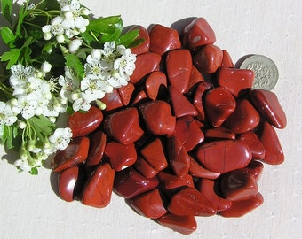10 Red Jasper Crystal Tumblestones, Orange Crystals, Chakra Crystals, Crystal Collection, Aries, Meditation Stone, Jasper Crystals