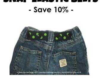 Toddler Belt for Boys and Girls- Elastic Snap Belt for Kids- Kids Belt for Pants- Lots of Colors- Baby Belt- Childrens Belt- Kids Cinch Belt