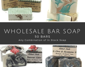 Wholesale Bar Soap, 50 bars, bulk bar soap, wholesale soap, wholesale vegan soap, wholesale natural soap, Vegan Bar Soap, bulk soap