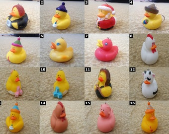 Rubber Duck Keychains - Cute Rubber Ducky - SELECT ONE