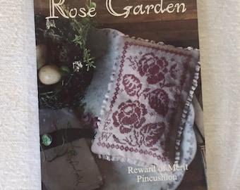 Rose Garden Pincushion Cross Stitch Pattern