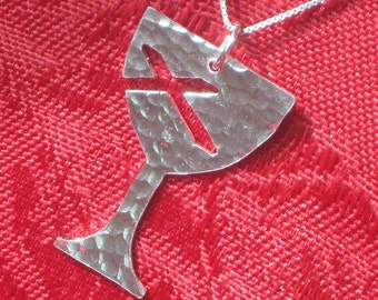 Hammered Sterling Chalice Pendant (Disciples of Christ) for Week of Compassion by Resurrection Silver