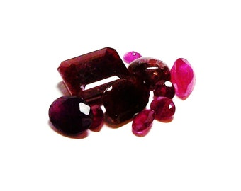 "Ruby, genuine ruby parcel, mixed ruby parcel, red rubies,  jewelry making, jewelry supplies, ""Red Passion"""