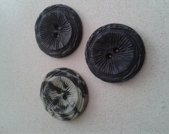 Big fantasy button Ø 43 mm. (Lot of 3 units)