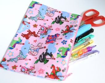 Candy Carousel Pencil/Cosmetic Bag