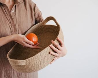 Fruit Storage Basket / Kitchen Storage basket / Natural Rope Boatish Basket /Bathroom Storage basket