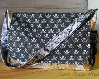 Design your own custom made Men's or Women's Messenger Bag with Adjustable Cross-Body strap You Pick the Fabrics