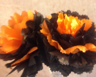 Halloween Tissue Flowers - Halloween Centerpieces - Halloween Decorations - One Dozen
