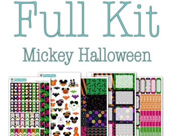 Mickey Halloween Collection - Disney Planner Stickers