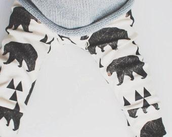 baby clothes // organic leggings in bear print // baby leggings //  baby pants // toddler pants // kids clothes / baby clothing / kids pants