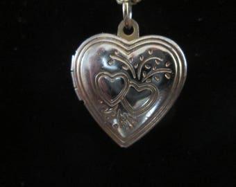 "Vintage Heart Locket Necklace  16"" Chain Number 2"