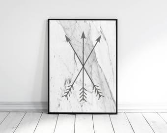 Arrow Print, Black and White Tribal Print, Arrow Prints, Tribal Wall Hanging, Bedroom Decor, Home Decor, Arrows, 3 Arrows Print, Minimalist