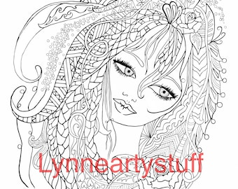 Printable PDF digital instant download colouring page
