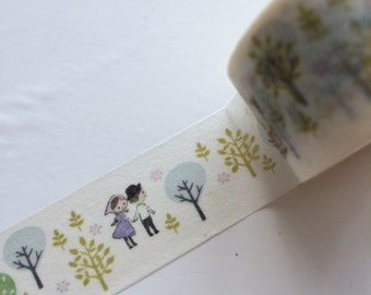 20mm x 10M washi masking tape -tree, Walking