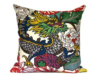 DRAGON - Chiang Mai Dragon Alabaster designer pillow covers - Made to Order