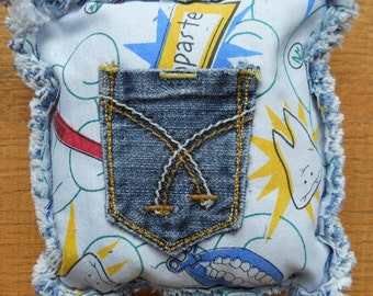 Recycled Denim Tooth Fairy Pillows
