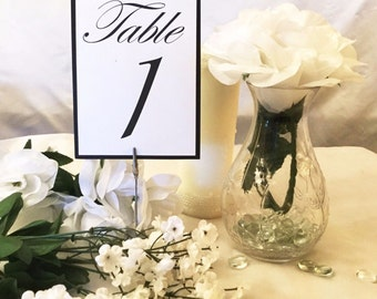 Black & White Table Numbers (Choose Your Quantity)