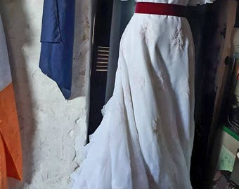 French vintage wedding dress 70s Edwardian style