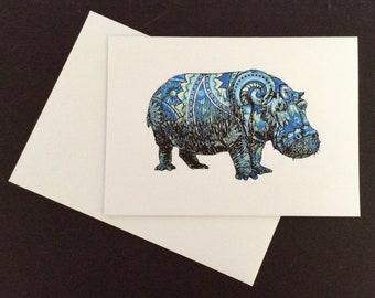 A5 Paisley Hippo