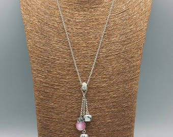 Necklace pink call angels