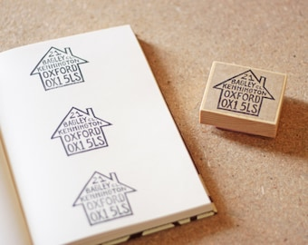 Little House Address Stamp - Housewarming Gift