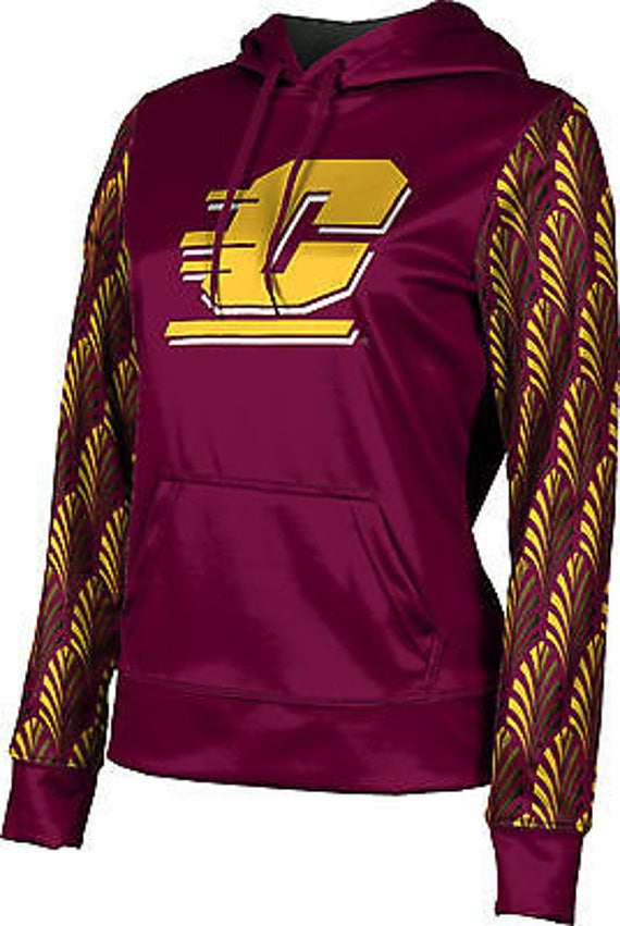 ProSphere Men's Central Michigan University Distressed Pullover Hoodie (CMU) LGYUJFaxo