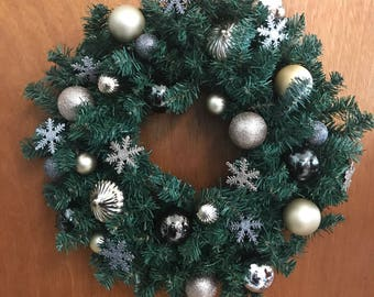 Winter Ornament Holiday Wreath