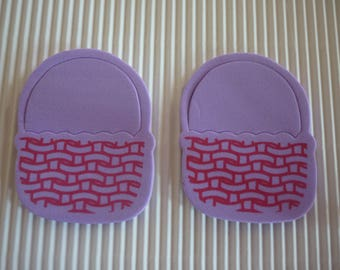 Easter basket foam, purple background and Red patterns sold in packs of 2.