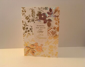 Wishing you much joy and happiness card- Wedding