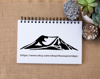 Mount Saint Helens clipart - Instant download, mt saint helens washington clip art, for personal and commercial use, black minimalist art