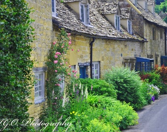 Costwolds England - Village Lane - English Cottage - Countryside - English Photography - Landscape -Street Photography -Fine Art Photography