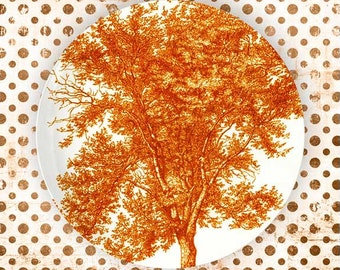 Tree, Tango Orange plate