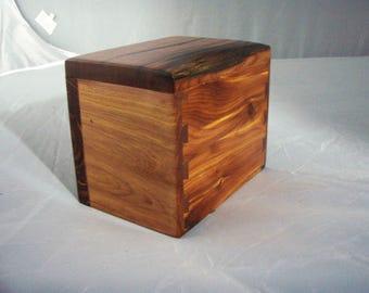 wood pet urn small size